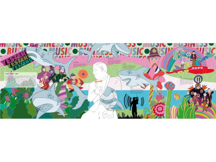 Ausstellungsgrafik Gartenschau – Gestaltung Ausstellungswände