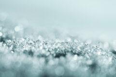 elegante Kristalle als Wandgestaltung