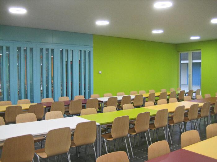 Farbkonzept Mensa für das Schulzentrum Schmallenberg