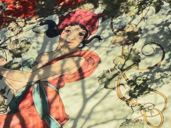 Fassadenmalerei auf einer Hauswand im Berliner Bezirk Wedding