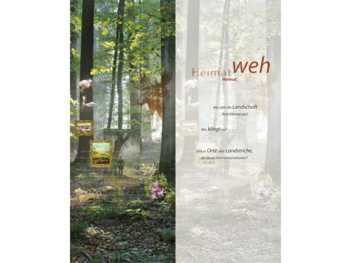 Ausstellung HEIMATWEH – Gestaltung Themencollagen