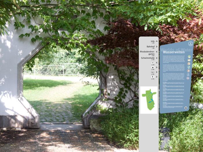 Leitsystem Gartenschau für die igs 2013 in Hamburg