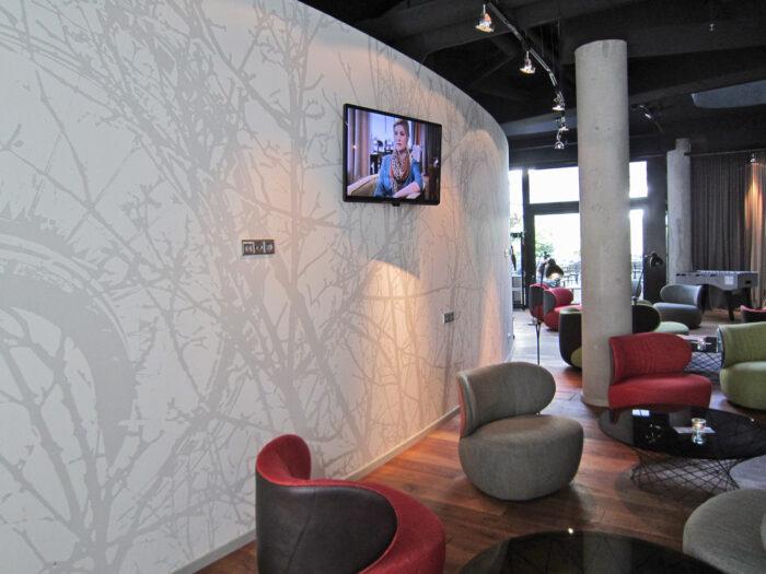 Elegante Wandgestaltung Boutique-Hotel Berlin Mitte
