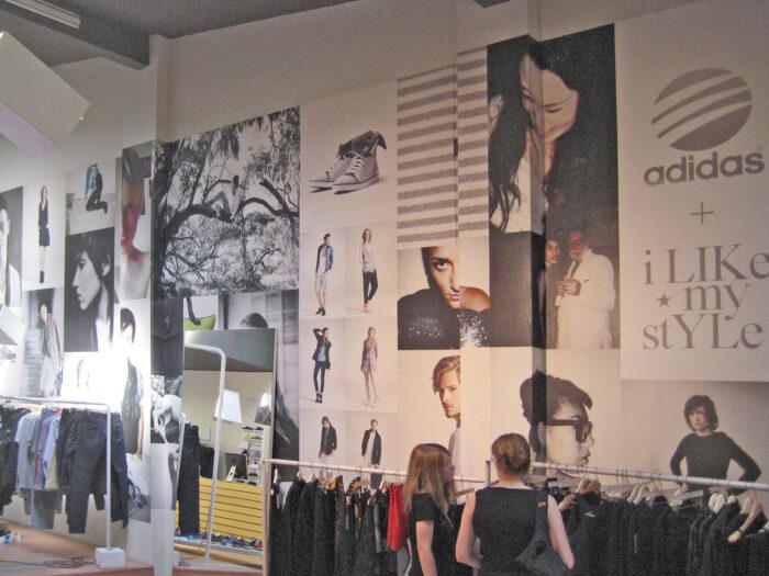 Wanddesign Concept Store adidas No74, Berlin